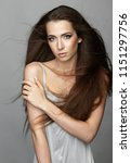beauty portrait of young woman. ... | Shutterstock . vector #1151297756