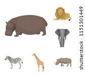 different animals cartoon icons ...   Shutterstock . vector #1151301449