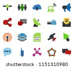 colored vector icon set  ... | Shutterstock .eps vector #1151310980