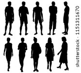 vector silhouettes men and... | Shutterstock .eps vector #1151311670