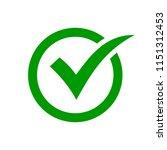 check mark symbol. green check... | Shutterstock .eps vector #1151312453