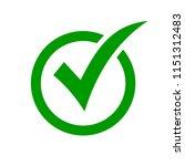 check mark symbol. green check... | Shutterstock .eps vector #1151312483