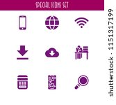 mobile icon. 9 mobile set with...