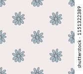 seamless pattern with flower.... | Shutterstock .eps vector #1151322389