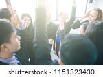 business people celebrating in... | Shutterstock . vector #1151323430