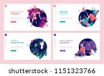 set of web page design... | Shutterstock .eps vector #1151323766