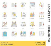 startup flat vector icons.... | Shutterstock .eps vector #1151324039