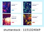 set of web page design... | Shutterstock .eps vector #1151324069