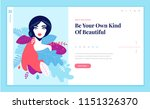 web page design template for... | Shutterstock .eps vector #1151326370