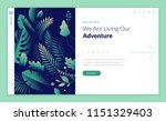 web page design template for... | Shutterstock .eps vector #1151329403