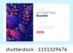 web page design template for... | Shutterstock .eps vector #1151329676