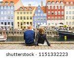 tourists enjoying the scenic...   Shutterstock . vector #1151332223