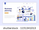 landing page template of... | Shutterstock .eps vector #1151341013