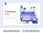 landing page template of e... | Shutterstock .eps vector #1151341016