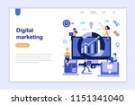 landing page template of... | Shutterstock .eps vector #1151341040