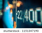 stock market numbers and city...   Shutterstock . vector #1151347190