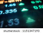 stock market numbers and city...   Shutterstock . vector #1151347193