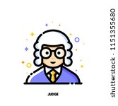 male user avatar of judge. icon ... | Shutterstock .eps vector #1151355680