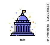 icon of court building for law... | Shutterstock .eps vector #1151355686