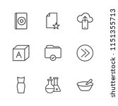 modern simple vector icon set.... | Shutterstock .eps vector #1151355713