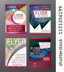 polygon brochure flyer ... | Shutterstock .eps vector #1151356199