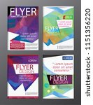 layout design template annual... | Shutterstock .eps vector #1151356220