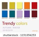 autumn winter 2018 2019 color... | Shutterstock .eps vector #1151356253
