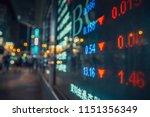 display stock market numbers...   Shutterstock . vector #1151356349