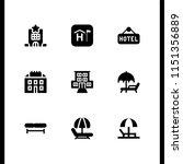 9 rest icons in vector set.... | Shutterstock .eps vector #1151356889