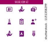 9 feedback icons in vector set. ... | Shutterstock .eps vector #1151358299