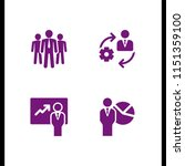 leader icon. 4 leader set with... | Shutterstock .eps vector #1151359100
