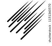 set of speed lines. black lines ... | Shutterstock .eps vector #1151360570