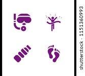 4 animal icons in vector set.... | Shutterstock .eps vector #1151360993