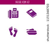 print icon. 4 print set with... | Shutterstock .eps vector #1151368703