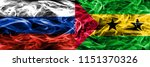 russia vs sao tome and principe ... | Shutterstock . vector #1151370326