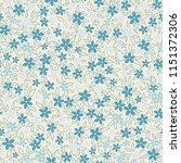 floral seamless pattern. vector ... | Shutterstock .eps vector #1151372306