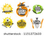 sketch style cooking lettering... | Shutterstock .eps vector #1151372633