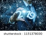 businessman shows the...   Shutterstock . vector #1151378030