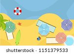 top view beach background with... | Shutterstock .eps vector #1151379533