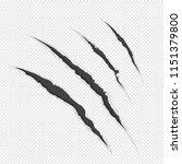 vector illustration claw... | Shutterstock .eps vector #1151379800