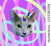 contemporary fun art collage.... | Shutterstock . vector #1151382206