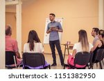 group of people listening to a...   Shutterstock . vector #1151382950