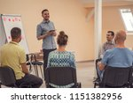 group of people listening to a...   Shutterstock . vector #1151382956