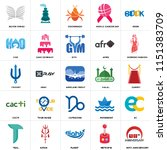 set of 25 icons such as 90th...