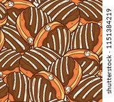cute donut seamless pattern | Shutterstock .eps vector #1151384219