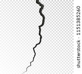 surface cracked ground. sketch... | Shutterstock .eps vector #1151385260