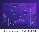 geometric abstract background.... | Shutterstock .eps vector #1151387063