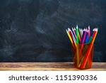 back to school concept  colored ...   Shutterstock . vector #1151390336