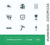 modern  simple vector icon set... | Shutterstock .eps vector #1151391116