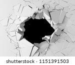 dark destruction cracked hole... | Shutterstock . vector #1151391503